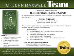 Programa certificado con el grupo John Maxwell.